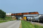 BNSF 7806 Heads a EB z train toward Galesburg.